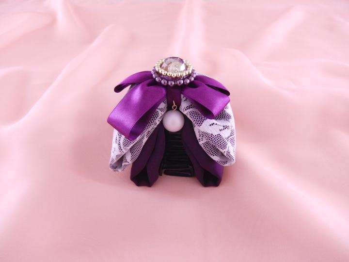 purple 本体8cm 留め具6cm ¥3,000-